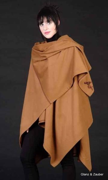 100 cashmere cape farbe zimt glanz zauber. Black Bedroom Furniture Sets. Home Design Ideas